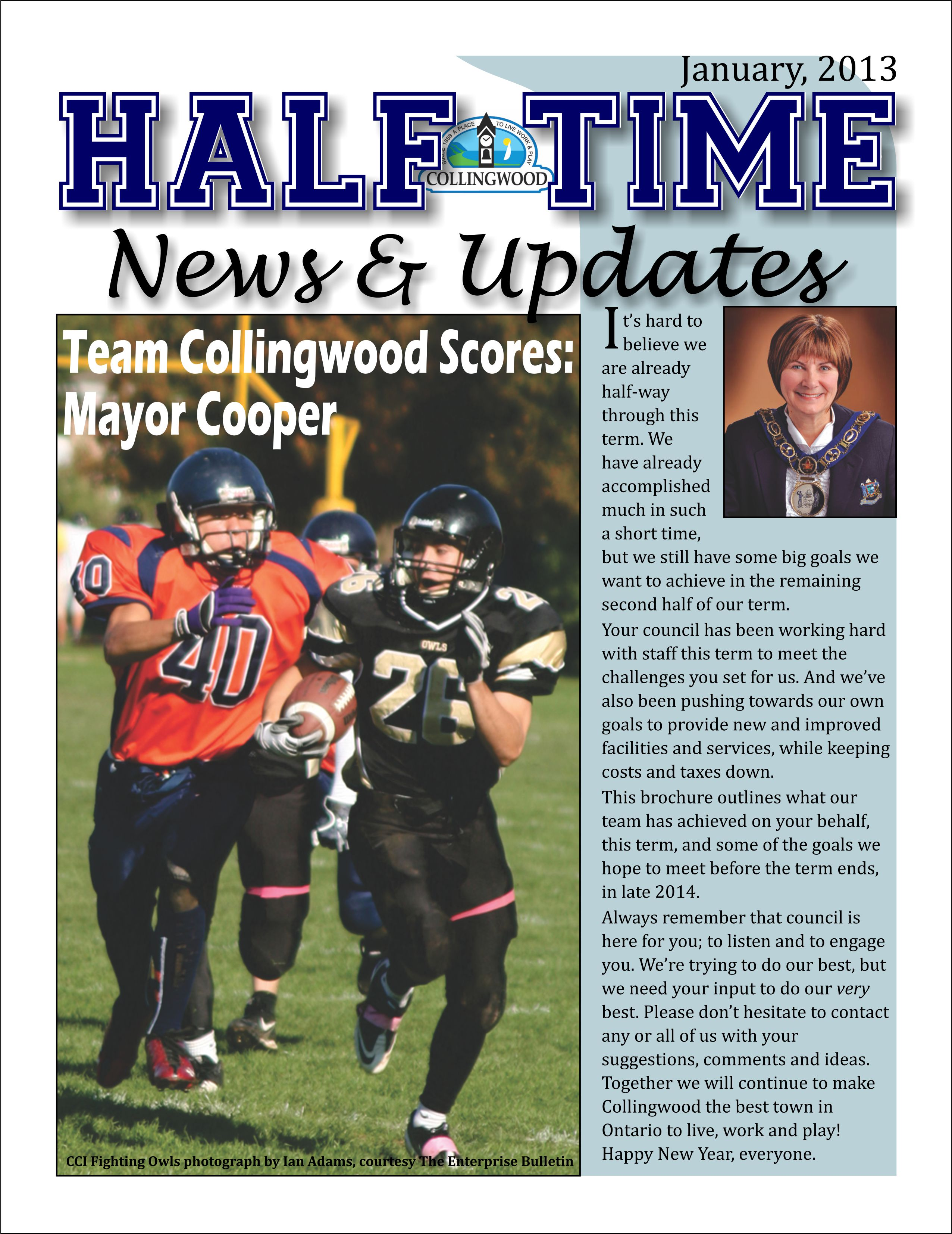 Half Time News cover